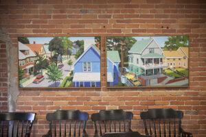 Neighborhood painting on wall